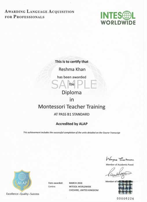 montessori certificate teacher training course childhood early apply