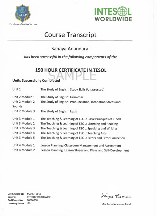 150 Hour Online TESOL Course & Certification - Intesol India