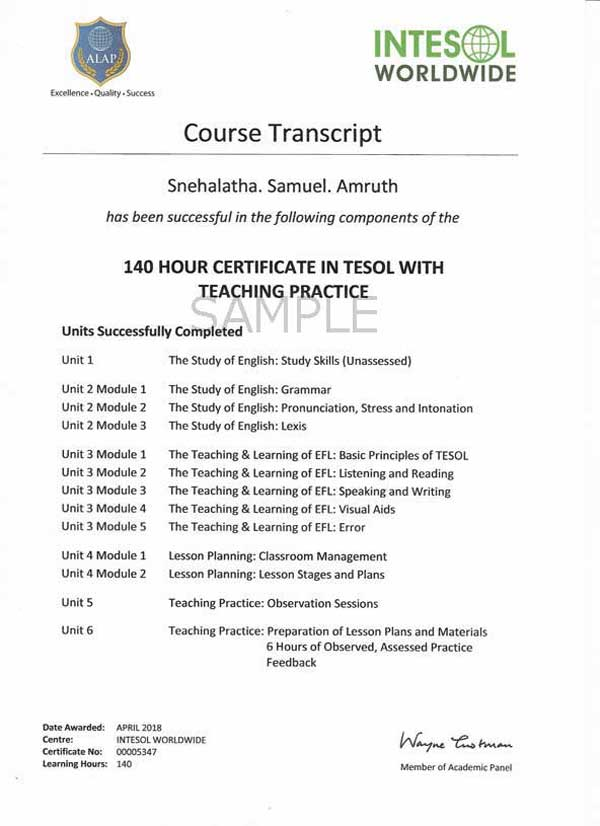 Tefl Course In Pune Tefl Certification Courses Intesol India